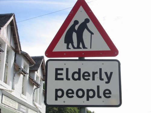 Sign: Elderly People
